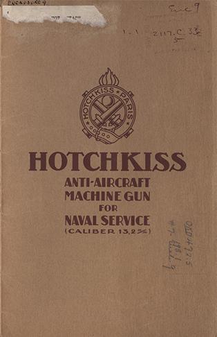 19281126 Hotchkiss Anti-Aircraft Machine Gun