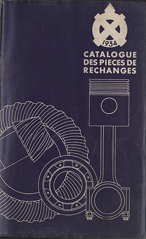 1934 Avril Catalogue des Réparations