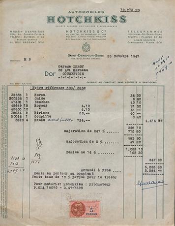 19471023 Facture
