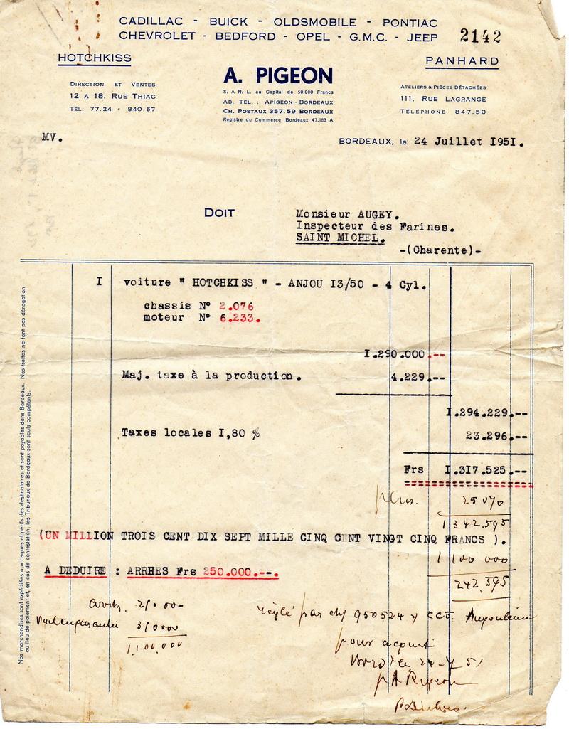 19510724 Facture Anjou 1350