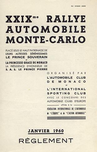 19600100 Rallye Monte Carlo