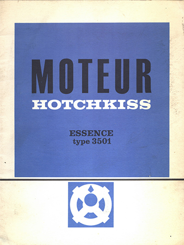 19640001 Moteur Hotchkiss - Essence type 3501