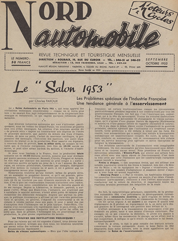 19530900 Nord Automobile Salon 1953 Charles Faroux
