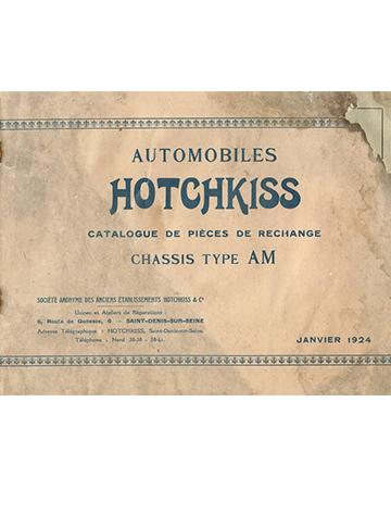19240100 Hotchkiss Tarif Pieces AM