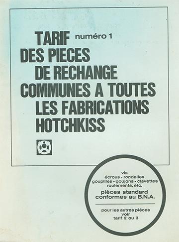 19671200 Hotchkiss Tarif Pieces Rechange