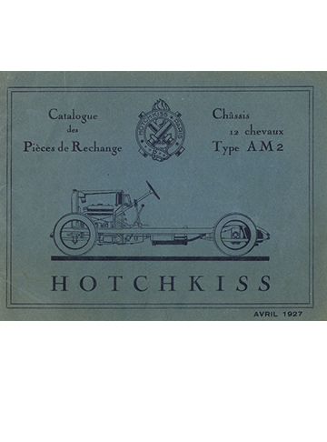 19270400 Hotchkiss Catalogue Pieces Rechange type AM2