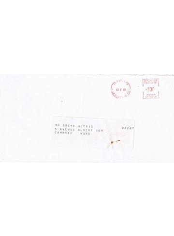 19680713 Enveloppe Dreye