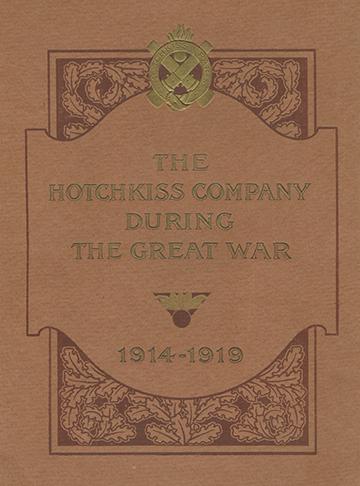 19190001 Hotchkiss Great War