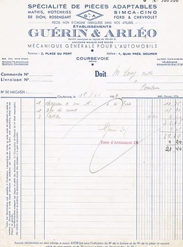 19390615 Guerin Facture