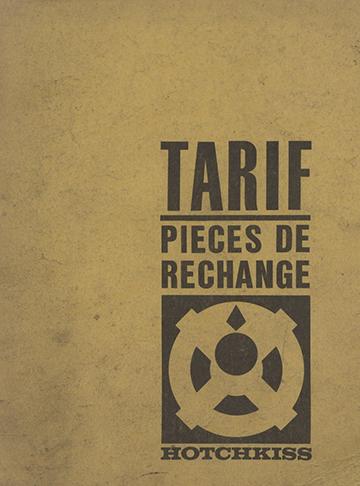 19660100 Tarif Pieces Rechange