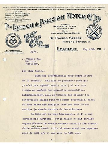 19150525 London Parisian Motor