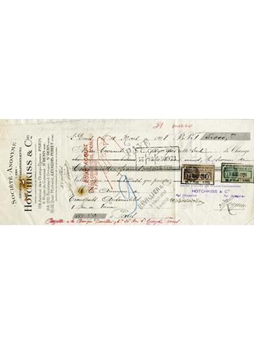 19280310 Hotchkiss Cheque