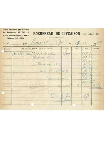 19481119 Hotchkiss Nancy Bordereau