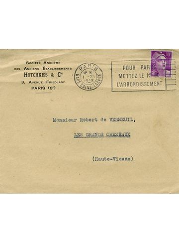 19481201 Hotchkiss Enveloppe
