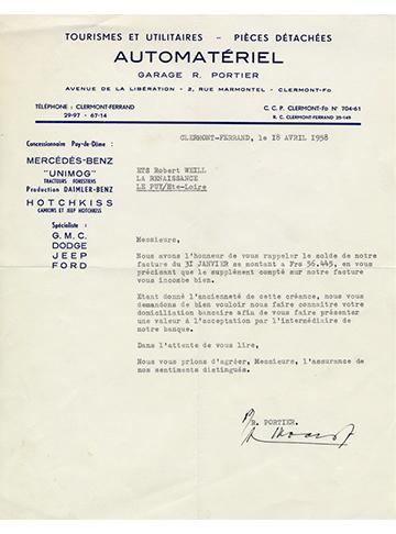 19580418 Automateriel Lettre