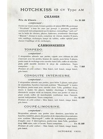 19231000 Tarif 12 CV AM