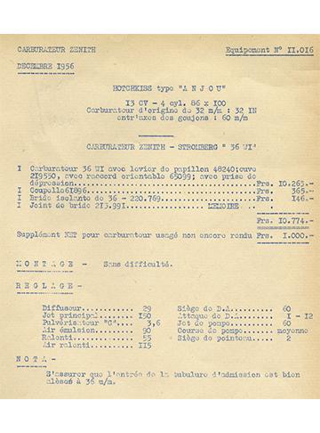 19561200 Tarif Zenith-Stromberg 36 WI Anjou