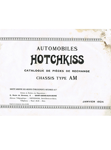 19240100 Hotchkiss catalogue pieces AM