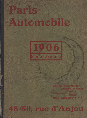 19060001 Paris Automobile Catalogue