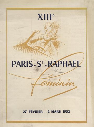19520227 Paris-Saint-Raphael Programme