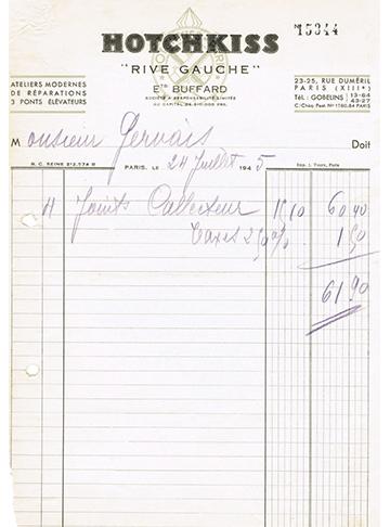 19450724 Hotchkiss Facture