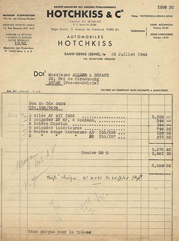 19460725 Hotchkiss Facture