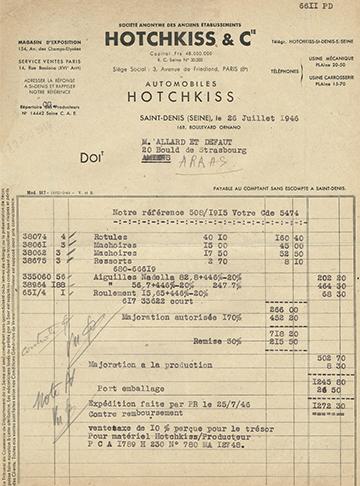 19460726 Facture 6611