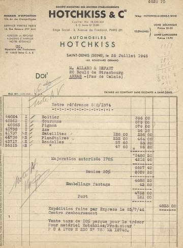 19460726 Facture 6629