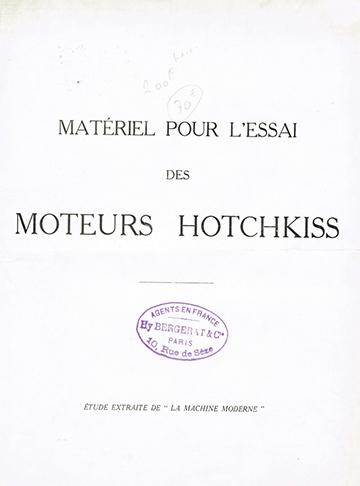 19260001 Hotchkiss Essai Moteurs