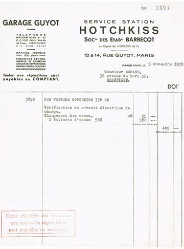 19381103 Facture