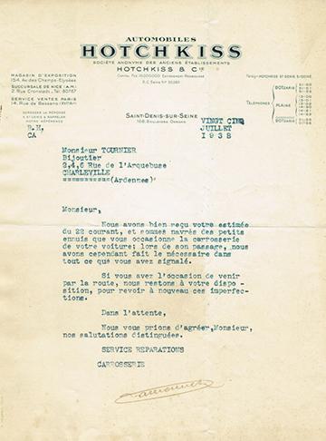19380725 Lettre Usine
