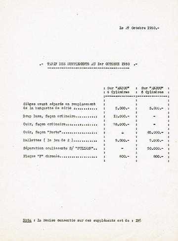 19501027 Tarif