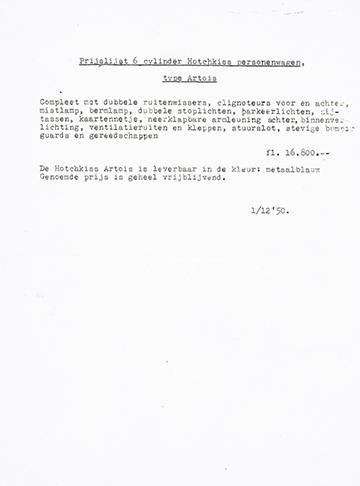 19501201 Tarif NL