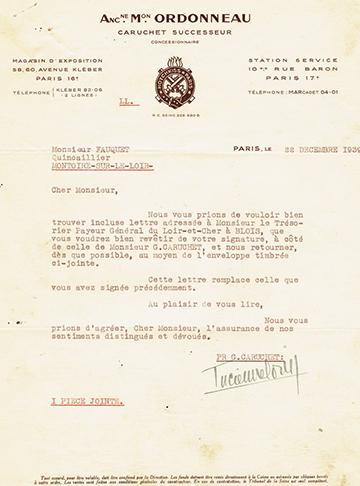 19391222 Lettre Ordonneau