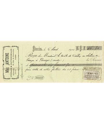 19120306 Reçu Antoine
