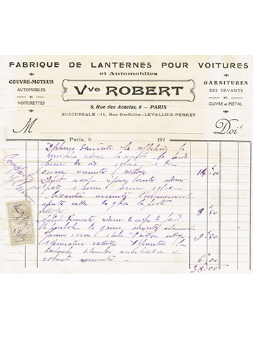 19130203 Facture Robert
