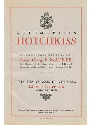 19290001 Tarif Geneve