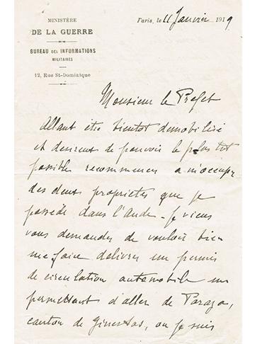 19190111 Lettre Comte Forton