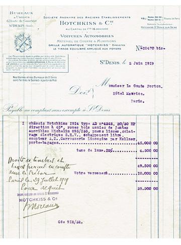 19190602 Facture Comte Forton