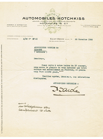 19261120 Lettre Usine