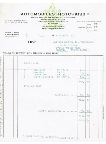 19300106 Facture