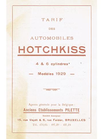 19290001 Tarif Belge