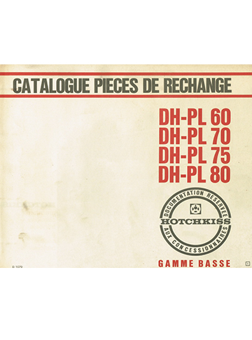 19651100 Catalogue Pieces DH-PL