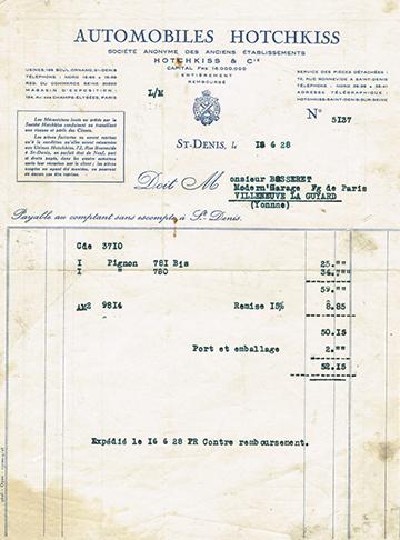 19280618 Facture