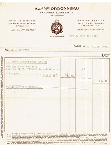 19380721 Facture