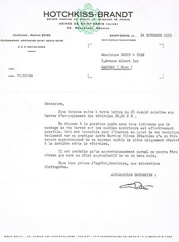 19631114 Hotchkiss Usine Dreye