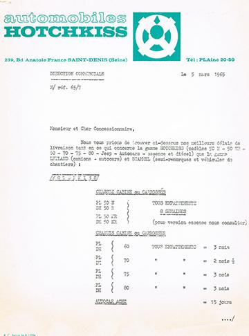 19650305 Hotchkiss Usine