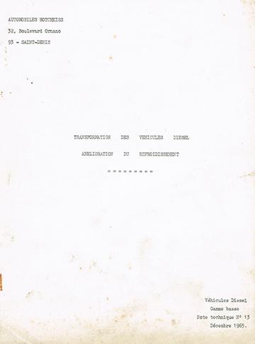 19651200 Hotchkiss Usine Transformation Diesel