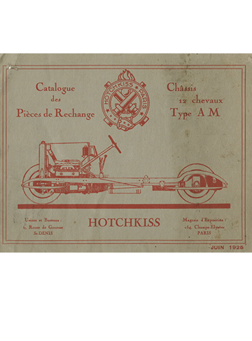 19250600 Hotchkiss Catalogue pieces rechange type AM