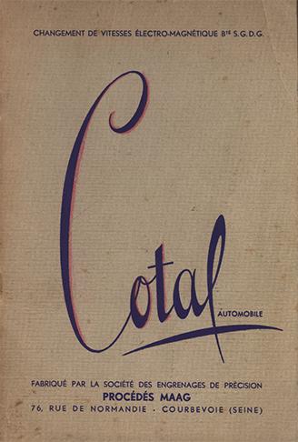 1936 Cotal Automobile